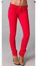 J BRAND Mid Rise SKINNY LEG Bright Red Slim Stretch Ankle Pants Jeans 27 x 29