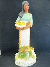 Homco Native American Indian Woman Harvest Figurine w/ Papoose 1980