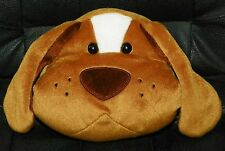 Dog Doggy PUPPY Face PLUSH Stuffed Animal Hanging Hide Away Trinkets