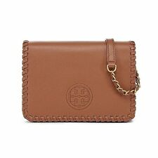NWT Authentic Tory Burch Marion Cross-Body Bag Bark $495