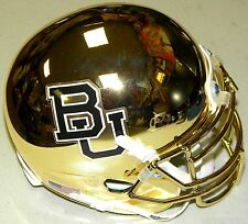 Baylor Bears GOLD CHROME NCAA Football Team Logo Schutt Authentic Mini Helmet