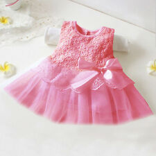Infant Baby Girls Princess Party Tutu Tulle Dress Lace Prewalker Crib Pram Shoes