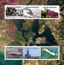 Central African Rep 2015 estampillada sin montar o nunca montada Segunda Guerra Mundial de la Segunda Guerra Mundial Pearl Harbor ataque 6v M/S Barcos sellos