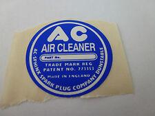 Jaguar AC Air Cleaner Decal