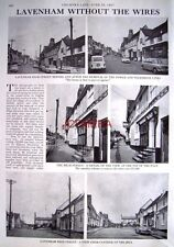 """LAVENHAM Without the Wires"" - 1967 Magazine Article (2-Sided Cutting)"
