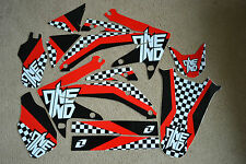 ONE INDUSTRIES CHECKERS TEAM GRAPHICS  HONDA CRF450R CRF450 05 06 07 08