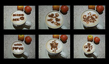 CV-4 Set 6pcs Valentine's day Coffee Cacao Barista Stencils Airbrushing Dusting