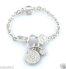 Circle Of Love W Swarovski Crystal New Three Cute Elegant Bracelet