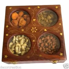Wooden Handmade Dry Fruit Box Spice Box Masala Box For Fastivals Gift Item