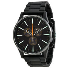 Nixon Sentry Chronograph Black Dial Black PVD Mens Watch A3861042