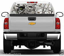 Reaper Bow Hunter Snowstorm #01 Rear Window Graphic Tint Truck Stickers Decals