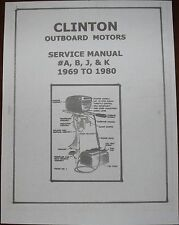 CLINTON OUTBOARD Repair Manual on cd computer disk, parts in my store