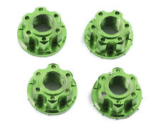 YEA-YA-0448GN Yeah Racing 4mm Aluminum Serrated Wheel Lock Nut (4) (Green)