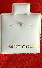 14 k White Gold Little Nose Ring Stud