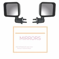 Black Door Side Mirror Kit Both Sides fits Jeep Wrangler JK 2007-2012