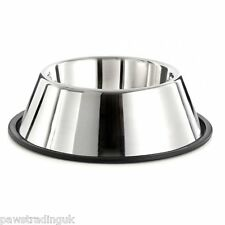 Stainless Steel Spaniel Non Slip Water Food Bowl Springer Dog Long Ears