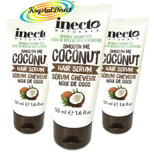 3x Inecto Coconut Oil Organic HAIR SERUM 50ml