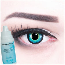 """Farbige Fun Crazy Kontaktlinsen funny blau-grüne """"Seraphin"""" für Fasching"""