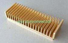 Aluminum E Heatsink for Power amplifier amp diy 200mmx40mmx68mm golden