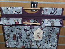 BNWT-Hobby Gift-Purple/Lilac Tones-Vintage Design-Tapestry/Craft Project Bag