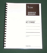 Icom IC-7410 Service Manual: Premium Card Stock Covers & 28lb Paper (full color)