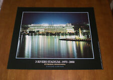 STEELERS THREE RIVERS STADIUM AT NIGHT POSTER