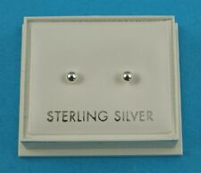 sterling 925 silver 3mm ball stud earrings