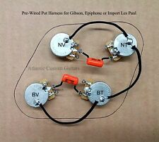 PREMIUM UPGRADED WIRING HARNESS FOR LES PAUL with true 500k CTS Pots