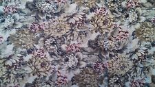Floral Quilt Fabric Pink/Mauve/Gray Blue/Cream/Brown Flowers Cranston cutter
