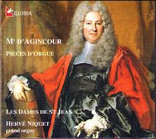 D'AGINCOUR Organ Orgel HERVE NIQUET D'Agincourt GLOSSA CD Les Dames de St Jean