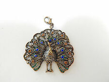 ANTHROPOLOGIE CHARM COLLECTIBLES PEACOCK RHINESTONES VERSATILE GIFT PERSONAL NEW