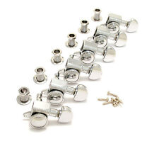 Grover Chrome 6 Inline Roto-Grip Mini Locking Guitar Tuners 505C6