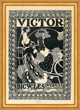 Victor Bicycles William H. Bradley Räder Frauen Firma Plakat Fahrrad B A3 03504