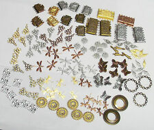130-Piece Mixed Lot Brass Jewelry Findings - Connectors / Links / Clasps