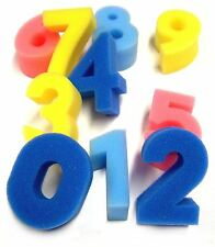 10 FOAM NUMBERS 0 - 9 FINGER POSTER PAINTING DABBERS & BATHTIME FUN SPONGES mb