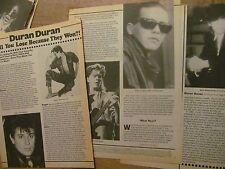 Duran Duran, Three Page Vintage Clipping