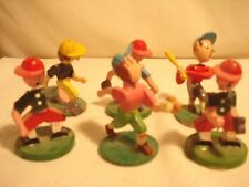 Vintage.. Lot..Of..6..Wooden....Nodders...Baseball..Players...Japan