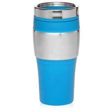 Light Blue 16 oz Stainless Steel Insulated Travel Coffee Tea Mug