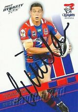 Signed 2012 NEWCASTLE KNIGHTS NRL Card TIMANA TAHU