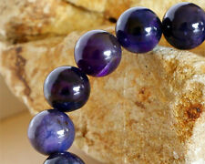 Genuine Natural Sugilite スギライト Stretch Bracelet Round beads 11mm With Blue