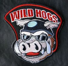 """WILD HOGS 12"""" MOVIE JACKET BIKER VEST MOTORCYCLE BACK PATCH IRON ON made in USA"""