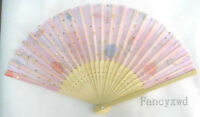 20X Chinese Silk folding Bamboo Hand Fan Fans Art Handmade Flower
