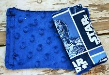 infant/toddler seat strap covers in star wars and navy blue minky