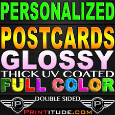 """10000 CUSTOM PERSONALIZED 4""""x3"""" POSTCARDS FLYERS Full Color GLOSSY 2 SIDED 3X4"""