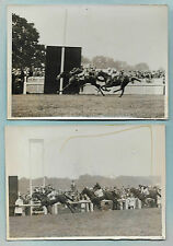2 PHOTOS MEURISSE COURSES 1936 + GRAND PRIX DE PARIS + CHANTILLY Gagnant MIEUXCE