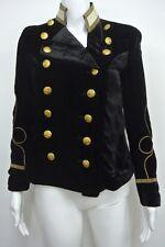 Ralph Lauren Denim Supply Women Military Army Velvet Officer Band Coat Jacket S