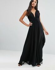 Fame and Partners Valencia Maxi Evening  Dress in Black UK 14/EU 42/US 10