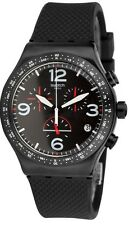 Swatch BLACK IS BACK Mens Watch YVB403