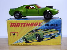Matchbox Lesney No.9e AMX Javelin In Type 'I2' With Red Border Box (MINT MODEL!)