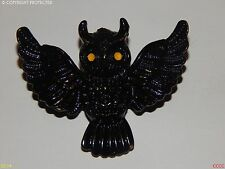 steampunk jewellery brooch badge owl gothic black enamel Harry Potter inspired